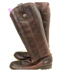 Frye High-calf Brown Leather Boots